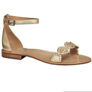 "Jack Rogers gold ""Daphne"" sandals"
